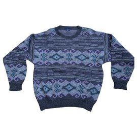 Autre Marque-Daniel Hechter - Pull Vintage and jacquard-Multiple colors,Grey