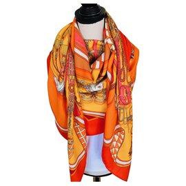 "Hermès-""bouquet sellier-Orange"
