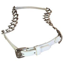 Yves Saint Laurent-Beautiful Yves Saint Laurent gem belt in excellent condition-White