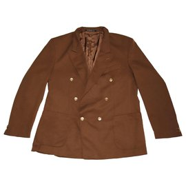 Yves Saint Laurent-Blazers Jackets-Brown