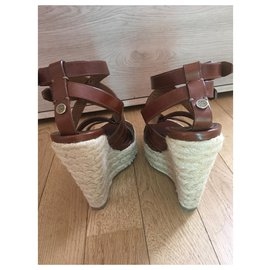 Burberry-SPARTIATES SANDALS Burberry-Brown,Beige,Light brown,Dark brown
