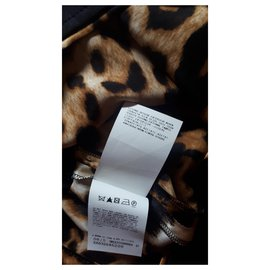 Ferré Milano-Silk skirt-Leopard print