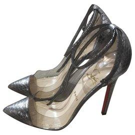 Christian Louboutin-Christian Louboutin heels EU38-Metallic