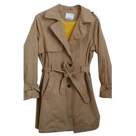 Zara-Girl Coats outerwear-Light brown