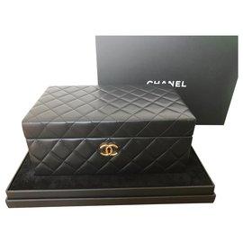 Chanel-Boîte à bijoux Chanel neuve avec étiquette-Noir