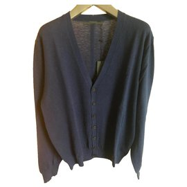 Karl Lagerfeld-KARL LAGERFELD NEW MEN'S CARDIGAN-Blue