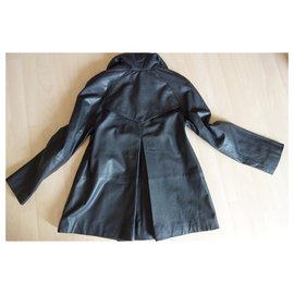 Les Petites-leather coat-Black