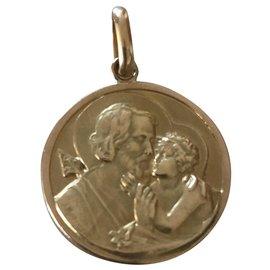Autre Marque-Yellow gold medal 18 k saint Joseph vintage 60'ies-Golden