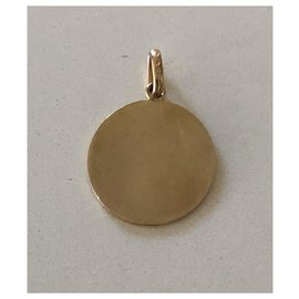 Autre Marque-Médaille or jaune 18 k saint christophe vintage 60's-Doré