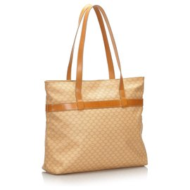 Céline-Celine Brown Macadam Tote Bag-Brown,Beige,Light brown