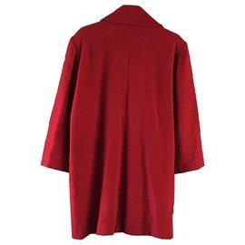 Chloé-Manteau de laine à double boutonnage doublé chloe-Rouge