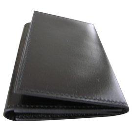 JM Weston-card holder - photo holder-Black