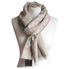 Gucci-scarf gucci beige new-Beige