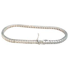 inconnue-Bracelet ligne diamants en or blanc.-Autre