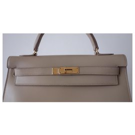 Hermès-Saco de Hermes Kelly 32-Bege