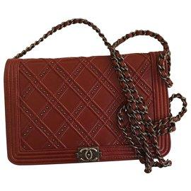 Chanel-Dallas WOC sac à rabat avec boîte-Bordeaux