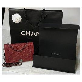 Chanel-Dallas WOC flap bag w/ box-Dark red