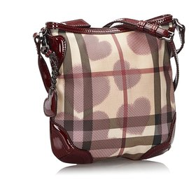 Burberry-Burberry White Hearts Supernova Check Crossbody bag-White,Red,Cream