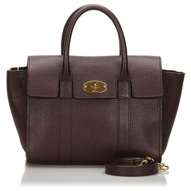 Mulberry-Mulberry Brown Leather Bayswater Satchel-Brown