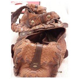 Chloé-CHLOE PYTHON BAG-Dark brown