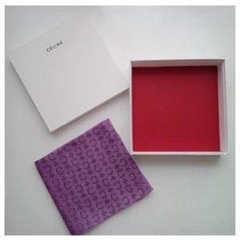 Céline-Silk scarves-Purple
