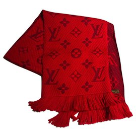 Louis Vuitton-louis vuitton logomania scarf red-Red