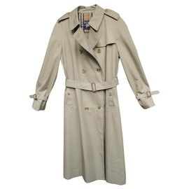Burberry-vintage Burberry women's trench coat 44 Perfect condition-Khaki