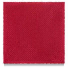 Louis Vuitton-louis vuitton Monogram Shawl red pomme d'amour-Red