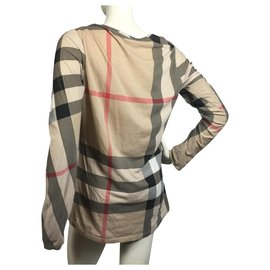 Burberry-Plaid cotton top-Multiple colors