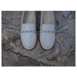 Chanel-Flats-White