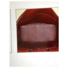 Hermès-Kelly bag color BORDEAU silver finish excellent condition-Dark red
