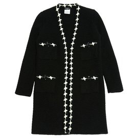 Chanel-BLACK CASHMERE FR40-Noir