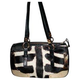 Yves Saint Laurent-Leather bag-Zebra print