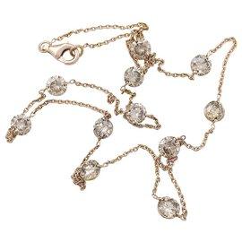 inconnue-Collier en or rose, 11 diamants bruns.-Autre