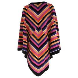 Pierre Cardin-Pierre Cardin Wool Poncho-Multiple colors