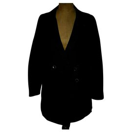 Chloé-Coats, Outerwear-Black