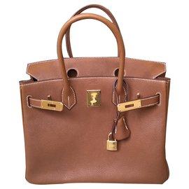 Hermès-Birkin 30 Barenia Fauve-Brown