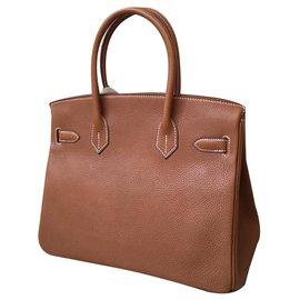 Hermès-Birkin 30 Barenia Fauve-Marron