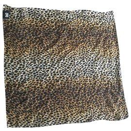 D&G-Silk scarves-Leopard print