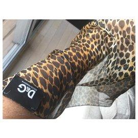 D&G-Foulards de soie-Imprimé léopard