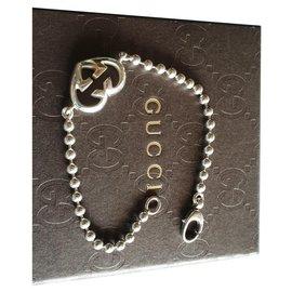 Gucci-Bracelet Gucci Brit Coeur en argent massif 925-Argenté