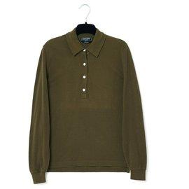 Hermès-khaki polo fr36-Kaki