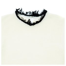 Céline-OFF WHITE BLACK FR38-Black,Cream