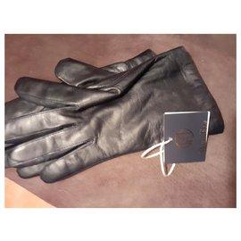 Maison Fabre-Gloves-Navy blue