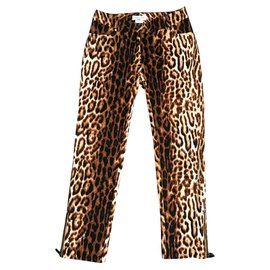 Céline-Pants, leggings-Leopard print