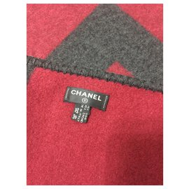 Chanel-CHANEL Scarf CACHEMIRE SILK BRAND NEW-Grey