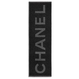 Chanel-CHANEL SCARF CACHEMIRE SILK NEW-Black