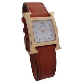Hermès-WATCH TIME H HERMES PM-Orange