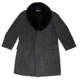 Karl Lagerfeld-Men Coats Outerwear-Grey