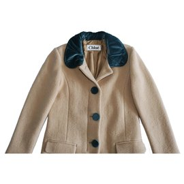 Chloé-Coats, Outerwear-Brown